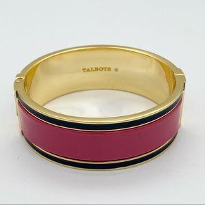 Talbots enamel multicolor hinge bangle bracelet